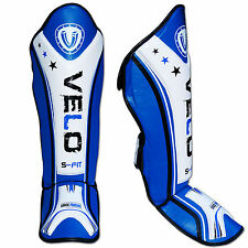 VELO Gel Shin Instep Foot Pads MMA UFC Leg Kick Guards Muay Thai Boxing Guard AU