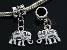 30/100pcs Charms Tibetan Silver elephant Bulk Lots Dangle Fit Bracelet DIY