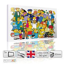 LARGE THE SIMPSONS CHILDRENS KIDS BEDROOM CANVAS WALL ART PRINTS PICTURES
