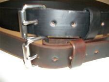 "LEATHER WORK BELT 1/1/2"" W WITH STAINLESS STEEL ROLLER BUCKLE TOOL HOLSTER"