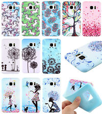 Fashion Pattern Colorful Painted Cloth TPU Soft Case Cover For iPhone Samsung