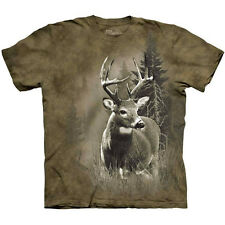 LONE BUCK The Mountain Deer Hunting Woods Whitetail Hunter T-Shirt S-3XL NEW