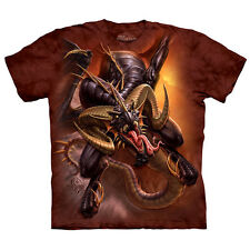 DRAGON RAID The Mountain Angry Mythical Creature Fantasy Art T-Shirt S-3XL NEW