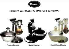 COMOY WG MAK3 SHAVE SETS with BOWL - Choice of 3 Colours - FREE Comoy Shave Soap
