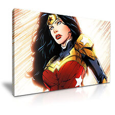 WONDER WOMAN Canvas Framed Print 30X20 INCH / 76x50CM SPECIAL OFFER