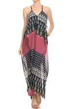 printed Casual Flowy sleeveless Handkerchief Drapey oversize Maxi Dress