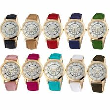 Fashion Quartz Jelly Analog Sports Women Lady Leather Strap Wrist Watch