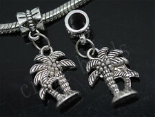 30/150pcs Charm Tibetan Silver coconut tree Bulk Lots Dangle European Bracelet