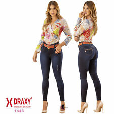 Women Sexy Push Up Jeans Colombiana Light Blue Fajate Virtual Sensuality 2016
