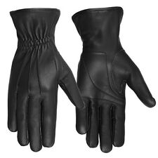 Hugger Deerskin Leather Driving Gloves Elasticated Wrist Professional Style USA