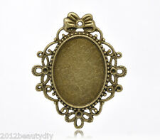 Wholesale New Bronze Tone HOTSELL Oval Cameo Frame Settings 57x46mm