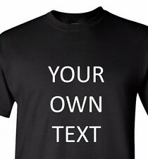 Shirt with Own Text Message Business Name Personalized Customized Tee Any Font