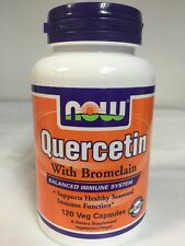 Quercetin with Bromelain by NOW Foods 120 Veg Capsules Balanced Immune System