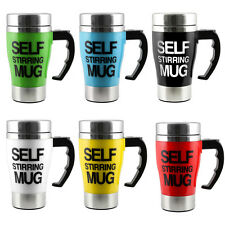 Hot Stainless Lazy Self Stirring Mug Auto Mixing Tea Coffee Cup Office Home Gift