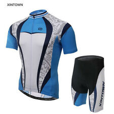 XINTOWN Ropa Ciclismo Mens Team Wear Cycling Jersey Bicycle Shirt Bib Short Set