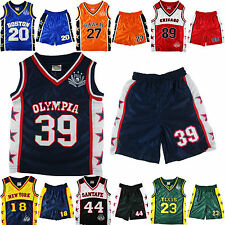 KIDS UNISEX BOYS GIRLS BASKETBALL VEST TOP & SHORTS 6months -12years 7 Cities