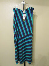 New With Tags Matty M Maxi Skirt-Color-Teal-Size-L