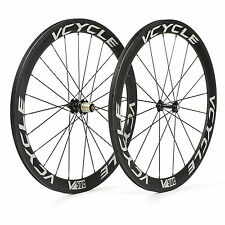 VCYCLE V50C 700C Carbon Wheels 50mm Clincher 23mm Width for Road Bike Wheelset