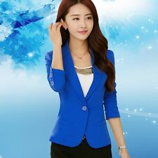 BLAZER SPRING WOMEN SUIT SLIM FASHION JACKET COAT ONE BUTTON SOLID COLOR CASUAL