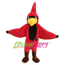 Fierce Cardinal Mascot Costumes Cartoon Bird Mascot Costume For Birthday Party