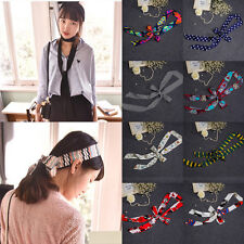 1Pc Delicate Pretty Women Soft Long Scarf Cravat Double Silk Scarf 14 Styles