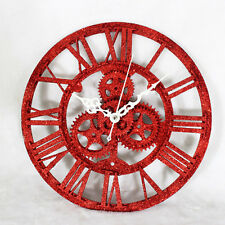 Retro Wall Clock Gear Roman Clocks European Antique Time Home Decor Sand Powder