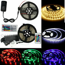 5M 300Leds SMD 3528/5050 RGB/White/Red/Green/Blue LED Strip Light Remote Power