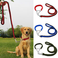 Braided Nylon Pet Dog Training Collars and Leash Lead Set for Dog Red Blue Green