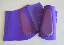 Horse Splint or Brush Boots All Purple AUSTRALIAN MADE Choose your size