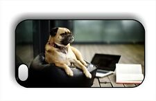 DOG PUG BREED THE WISDOM THOUGHTFUL CASE FOR iPHONE 4 5 5C 6 -klj3Z