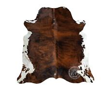 New Cowhide Rug Leather Cow Skin BRINDLE TRICOLOR COLOMBIAN  Cow Hide Upholstery