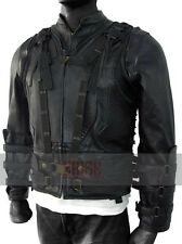 Bane Real leather Vest Black With Detachable Sleeves - MONEY BACK GUARANTEE!!!