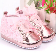 Baby Kids Shoes Soft Soled Shoes Toddler Infants Rose Flower Prewalker Shoelace