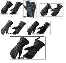 NEW Summer Winter Leather Gauntlet Gloves Motorcycle Motorbike Gloves Leather