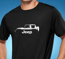 Jeep Wrangler 4x4 Classic Outline Design Tshirt NEW FREE SHIPPING
