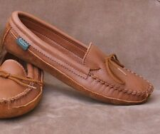 Womens Shoes Canoe Sole Deerskin Leather Moccasins Cushion Insoles Handmade USA