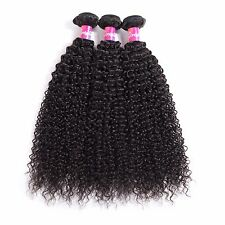 3 Bundles Kinky Curly Brazilian Virgin Hair Curly Weave Human Hair Extensions