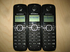 Lot of 3 Motorola L603M 1.9 GHz Cordless Expansion Handset Phone