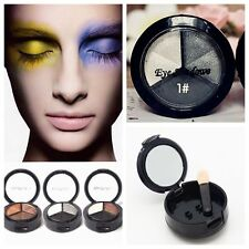 3 color Eye Shadow Eyeshadow Palette Shimmer/Matte Eyeshadows Smoky Makeup Set