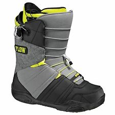 FLOW RIVAL QUICK FIT BLK GREY MENS SNOWBOARD BOOTS SNOW 2014 FREE POST AUSTRALIA