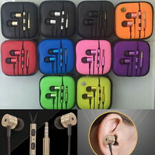 Metal in ear headphone earphones Remote Mic for Android Mobile Phone MP3 4 #ZX