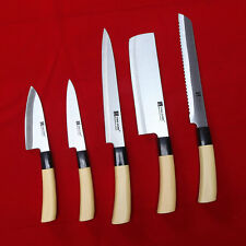 5 Chef Knives Set Sashimi DEBA Stainless Steel Sushi Chef Kitchen Knife Japanese