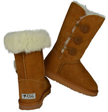 Ladies 3 Bailey Button Fashion Ugg Boots  Premium Australian Sheepskin