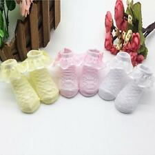 0-6M Newborn Toddler Kids Baby Socks Ruffle Lace Ankle Socks Baby Princess Socks