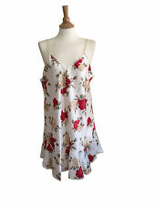NWT Red Floral Satin Chemise Babydoll Nightgown w/Lace Trim MIDNITE ROMANCE Plus