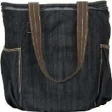 Thirty One 31 Gifts Retro Metro Bag Purse Retired Print Dark Denim NIP