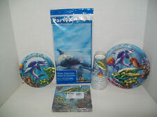 Seaworld Ocean Animals Birthday Party Supplies-Cups, Plates, Napkins, Tablecover