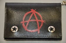 Anarchy Trifold Chain Wallet Punk, Goth and Rocabilly Bikers Style