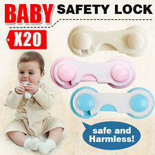 20XChild Kids Baby Safety Lock For Door Drawers Cupboard Cabinet Adhesive NEW