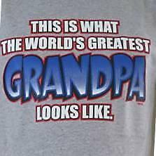 WORLDS GREATEST GRANDPA GRAY NWOTS SWEATSHIRT SM THRU 4XL